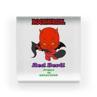 横浜 大口 宝明楼のRed Devil君 Acrylic Block