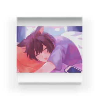 朝の微睡み Acrylic Block