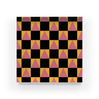 鬼滅の刃柄 鱗文様×市松模様 禰豆子カラー Acrylic Block