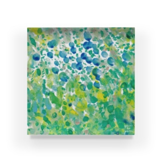 ブルーベリーの森 Acrylic Block