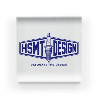 HSMT design PLUG BLUE Acrylic Block