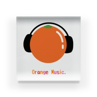 orange music Acrylic Block
