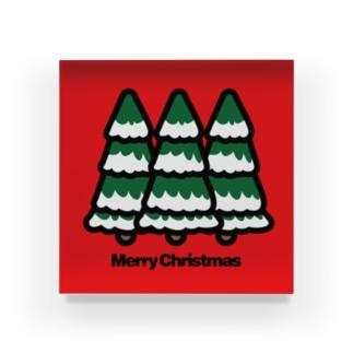 クリスマスツリー もみの木 Acrylic Block