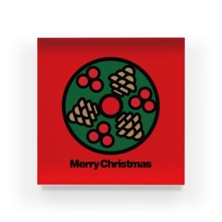 クリスマスオーナメント クリスマスリース Acrylic Block