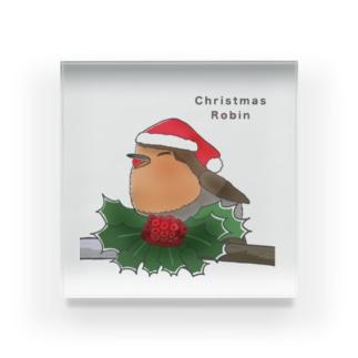 ヨーロッパコマドリ(クリスマスロビン) Acrylic Block