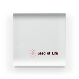 Seed of Life マーク入り Acrylic Block