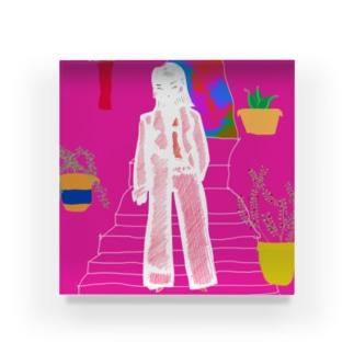 ピンクの部屋 Acrylic Block
