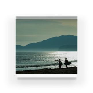 ビーチ Acrylic Block