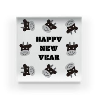 丑年HAPPY NEW YEAR Acrylic Block