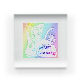 にゃっぴークリスマス Acrylic Block