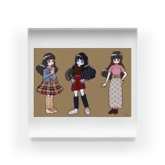 ミミちゃんファッション Acrylic Block