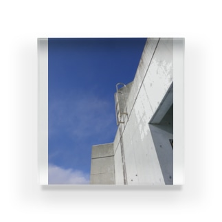 BLUE EXIT Acrylic Block