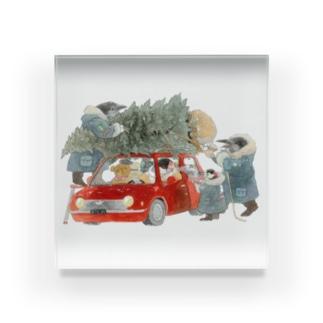 ツリーを買って Acrylic Block