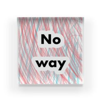 no way Ver.1.25 Acrylic Block