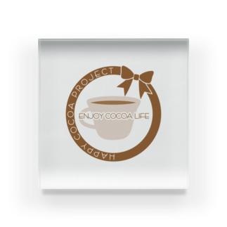 Own Your Life -SUZURI-のCocoa アクリルブロック(カップ) Acrylic Block