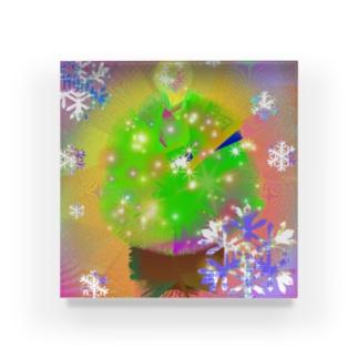 クリスマスのきらめき Acrylic Block