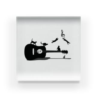 《猫とギター》 Acrylic Block