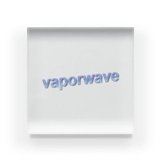 立体蒸気波 Acrylic Block