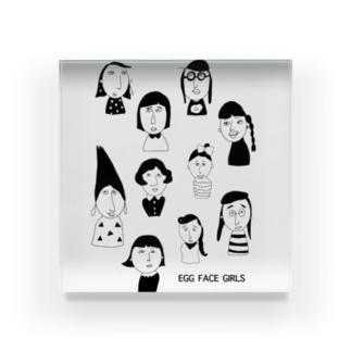 EGG FACE GIRLS Acrylic Block