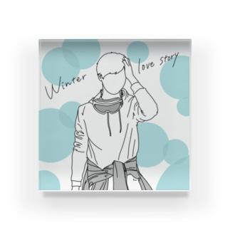 Winter love story Acrylic Block