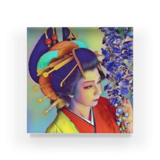 右近・御乱心🎄アクリルブロック花魁 Acrylic Block