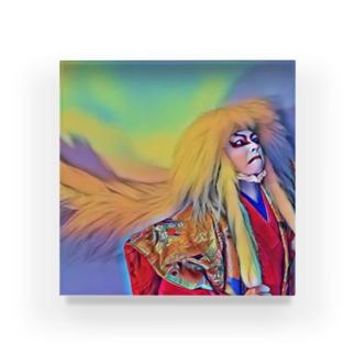 右近・御乱心🎅アクリルブロック獅子 Acrylic Block