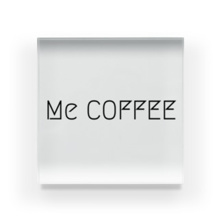 MeCOFFEEロゴ Acrylic Block