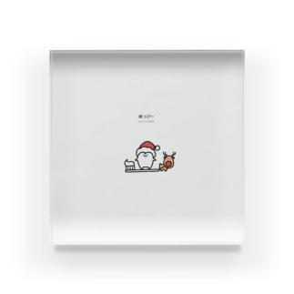 歯っぴーメリークリスマス Acrylic Block