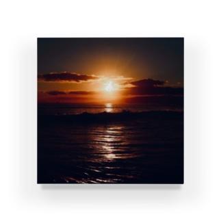 ホノルル 夕焼けの海 Acrylic Block