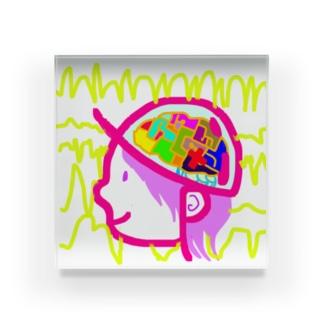 てんかん•パープルデー3月26日100分の1偶然 Acrylic Block