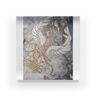 星屑の帳の天使 Acrylic Block
