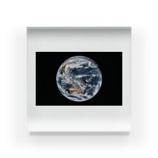 地球 Earth 宇宙のふしぎ Acrylic Block