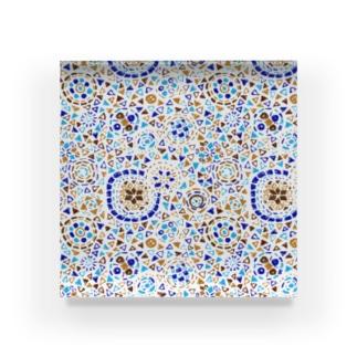 トルコのモザイクランプ(ターコイズ) Acrylic Block