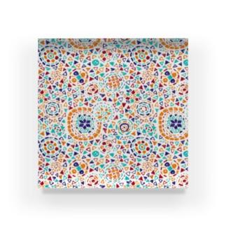 トルコのモザイクランプ(オレンジ) Acrylic Block