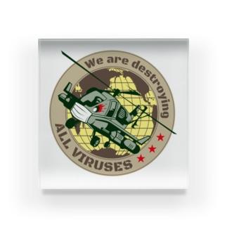 国際ウイルス防御部隊ペットマーク Acrylic Block