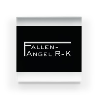 Fallen-Angel_R-Kロゴグッズ Acrylic Block