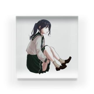 ポニテセーラーちゃん Acrylic Block