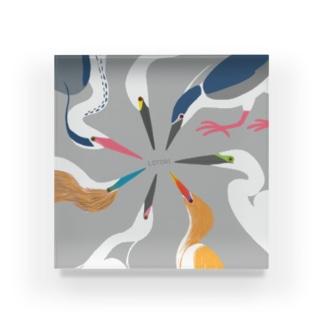 鷺の婚姻色パレット Acrylic Block
