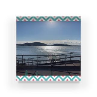 浜名湖は綺麗だなあ Acrylic Block