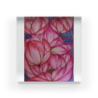 蓮 花手鞠 Acrylic Block
