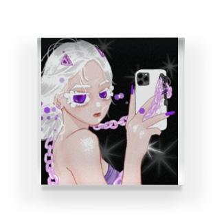 🤍コハク(white&purple)🤍 Acrylic Block