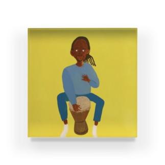 ジャンベを愛する男 Acrylic Block