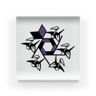 【、曰く。】ロゴマーク Acrylic Block
