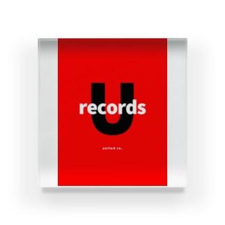 ユナイテッドレコード Acrylic Block
