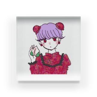 レトロ・チャイナちゃん Acrylic Block
