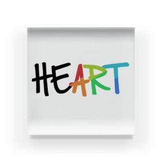 """HE""""ART"""" Acrylic Block"""