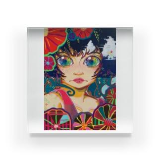 Shiny girl (Anna) Acrylic Block