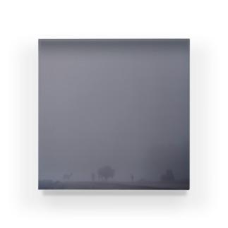 Fog and animals Acrylic Block