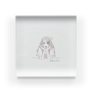 緑・恋愛運 Acrylic Block
