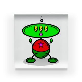 アレン・ザ・エイリアン Allen Alien Acrylic Block